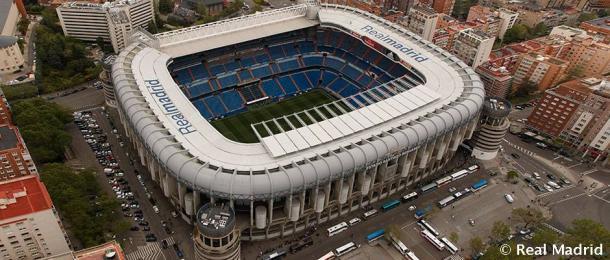El estadio Santiago Bernabeu, escenario de la gran Final de la Copa Libertadores. Foto: Real Madrid Oficial.