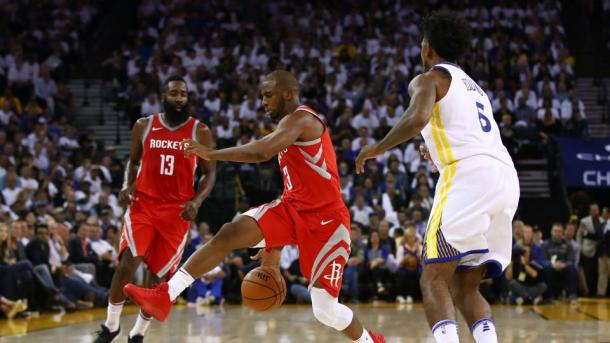 The duo of Chris Paul and James Harden proved that they are able to not only play together but to win big games as well. Photo: Getty Images