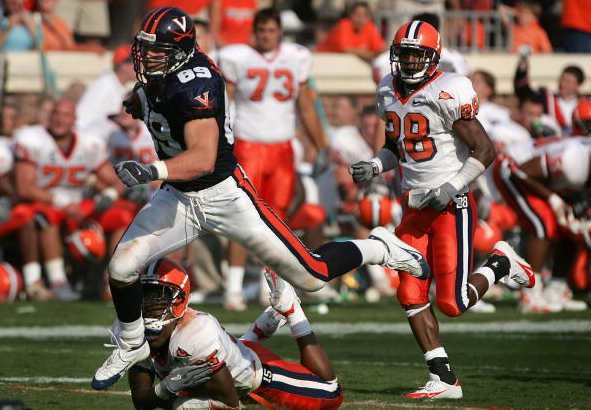 Heath Miller during his time at the University of Virginia / Doug Pensinger - Getty Images