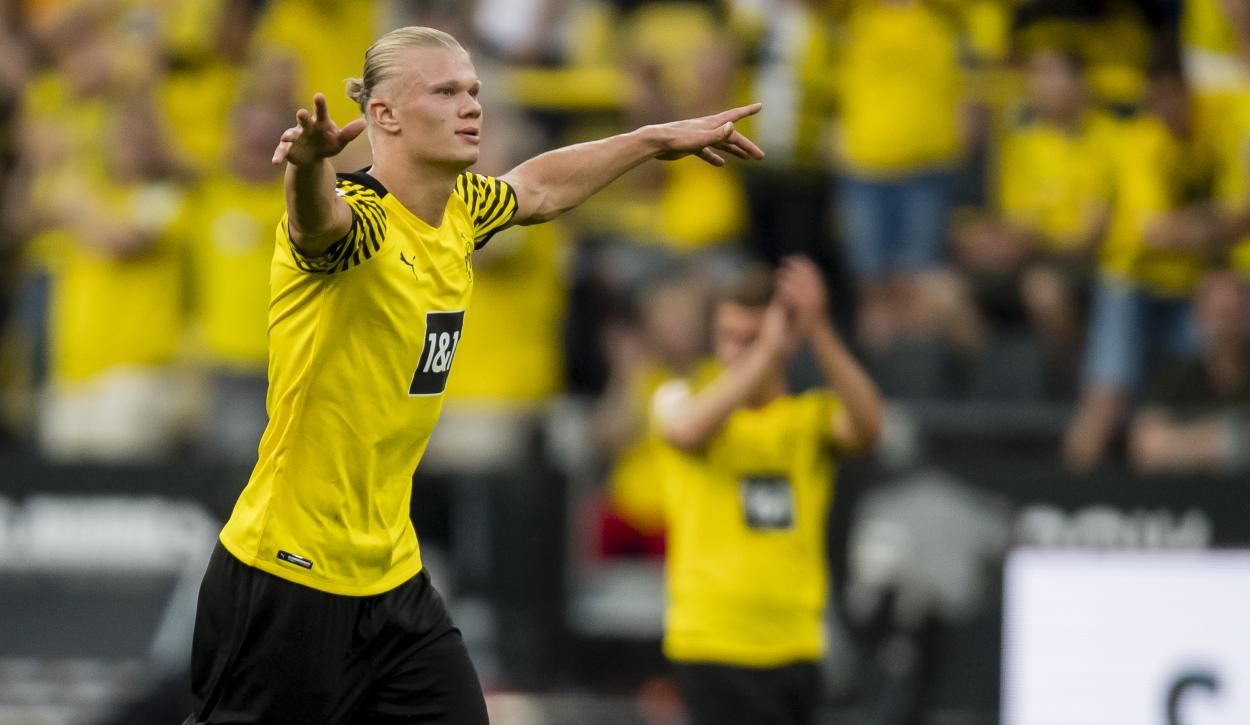 Haaland se exhibió ante el Eintracht / FOTO: @BVB