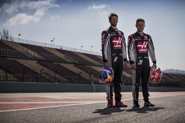 Romain Grosjean y Kevin Magnussen | Haas F1 Team