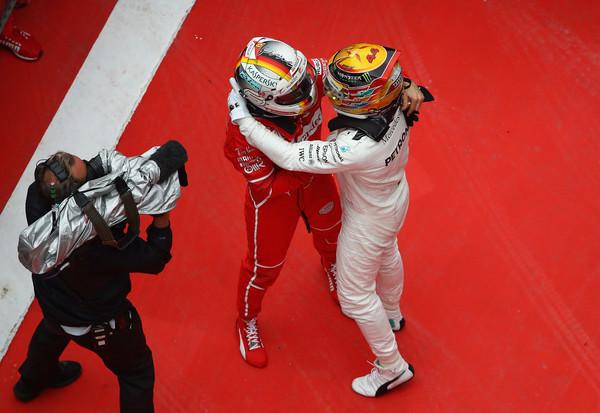 Vettel y Hamilton en el GP de China de 2017 | Foto: Getty Images AsiaPac