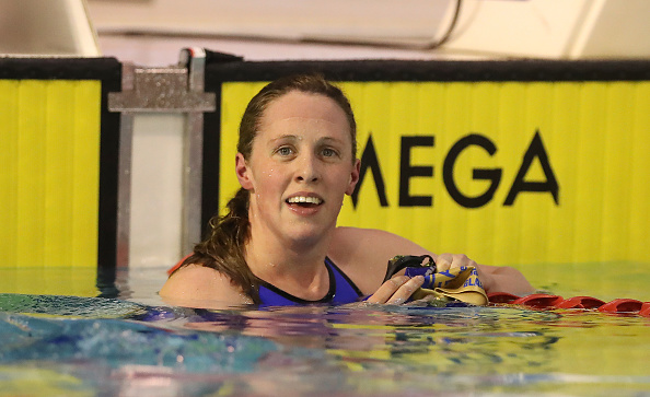 Hannah Miley after a race at the British Swimming Championships earlier this month (Getty/Ian MacNicol)
