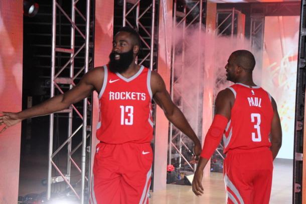 La dupla Paul - Harden buscará llegar muy lejos (Foto: NBA.com)
