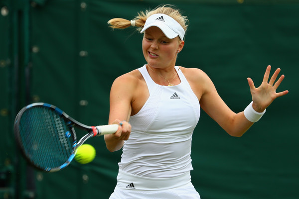 Harriet Dart in action at last year's Wimbledon qualifying competition | Photo: Clive Rose/Getty Images Europe