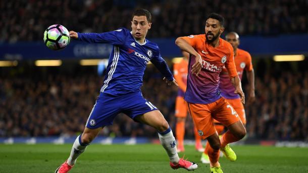 Hazard puso de rodillas al City | Foto: Premier League.