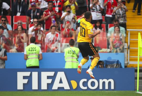 Segundo gol de Hazard matou o jogo em Moscou (Foto: Matthew Ashton - AMA/Getty Images)