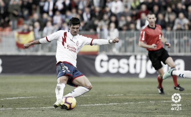 Héctor Hernández en una ocasión del partido | Foto: LaLiga
