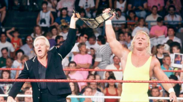 Heenan celebreates intercontinental title with Mr Perfect (image: wwe)