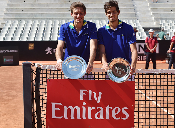 Pierre-Hugues Herbert and Nicolas Mahut claimed their first title of the year at the Rome Masters (Photo: Giuseppe Bellini/Getty Images)