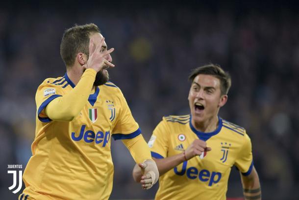 Higuaín celebra el gol contra su ex equipo | Foto: Juventus