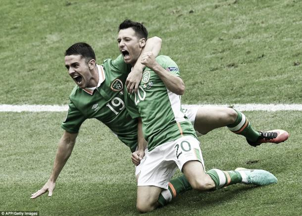 Above; Robbie Brady and Wes Hoolahan