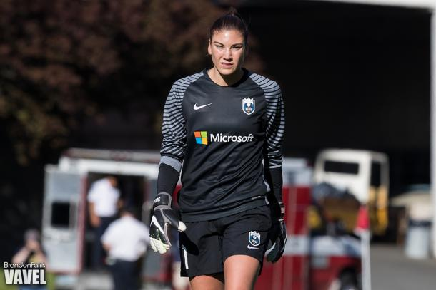 Hope Solo was a bit of a distraction in 2016 for the Seattle Reign | Source: Brandon Farris - VAVEL USA