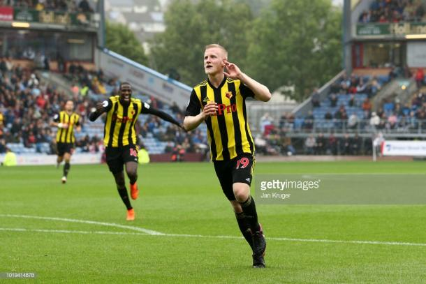 Will Hughes scored the third in Watford's 1-3 win at Burnley. Source | Getty Images.