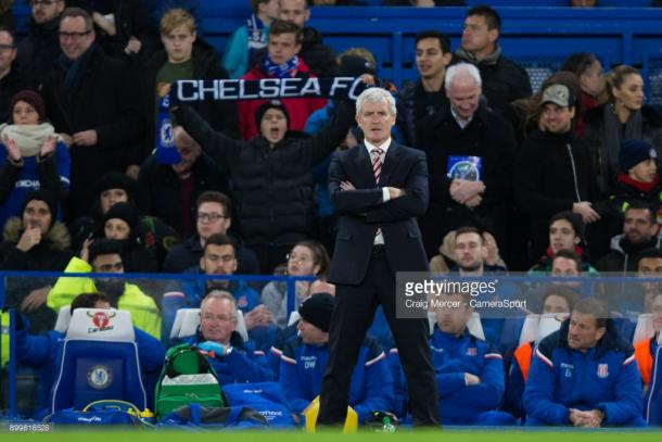 Mark Hughes looks on in dismay. Source | Getty Images