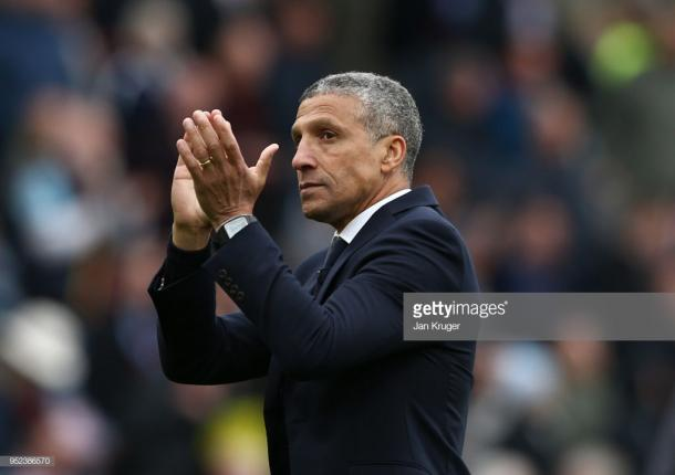 Chris Hughton guided Brighton to 15th last season. Source | Getty Images.