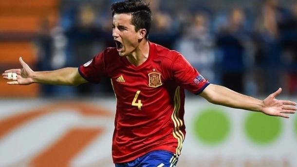 Hugo Guillamón autor del penalti ganador ante Alemania | Foto: www.uefa.com