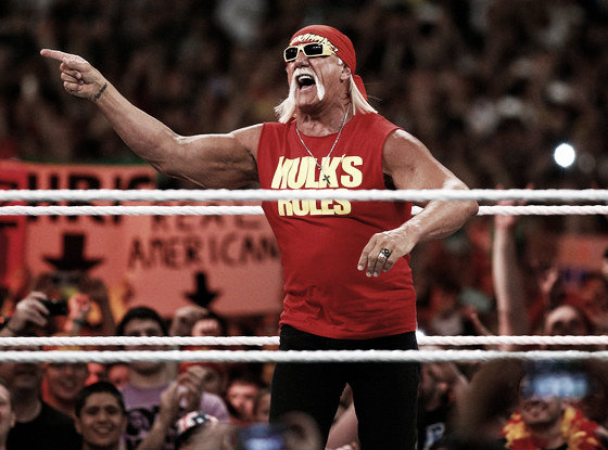 Hulk Hogan appearing as a guest at WrestleMania 30 (image: eonline.com)