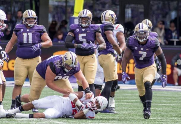 The Washington Husky defense will look to have a dominate performance against the Idaho Vandals | Source: gohuskies.com