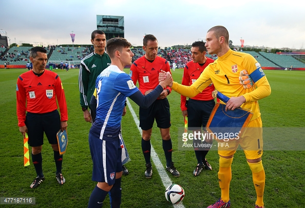 Hyndman in action for USA Under 20's at the World Cup in New Zealand. (Photo via Getty Images/Alex Livesey)