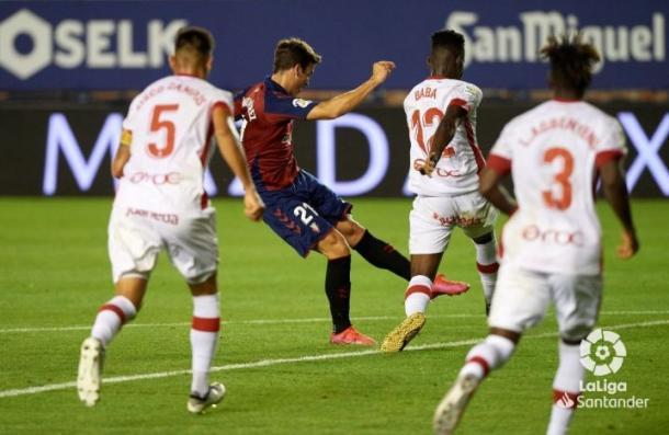 Iñigo Pérez ante el Mallorca | Fuente: LaLiga Santander