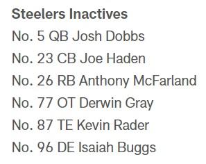 Via Pittsburgh Steelers