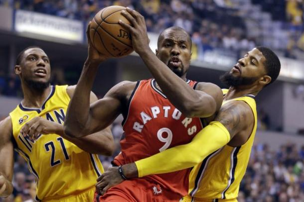 Serge Ibaka had a short year with the Raptors but signing a long-term deal is a good career move. Photo: Michael Conroy/Associated Press