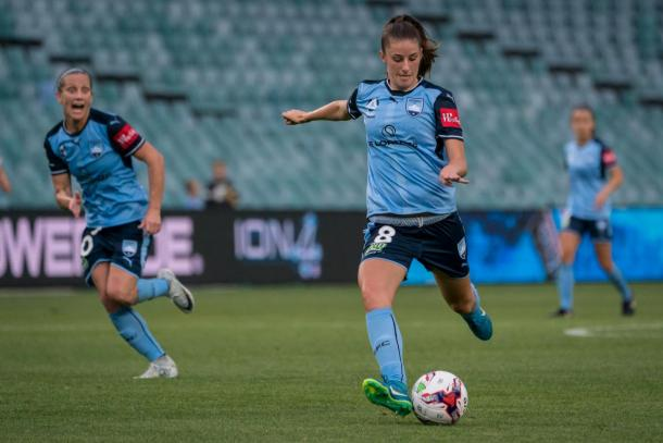 Amy Harrison in action for Sydney FC | Source: sydneyfc.com