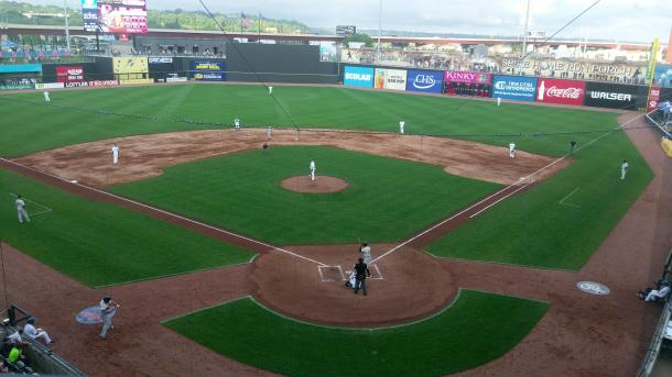 A general view of CHS Field during the game.