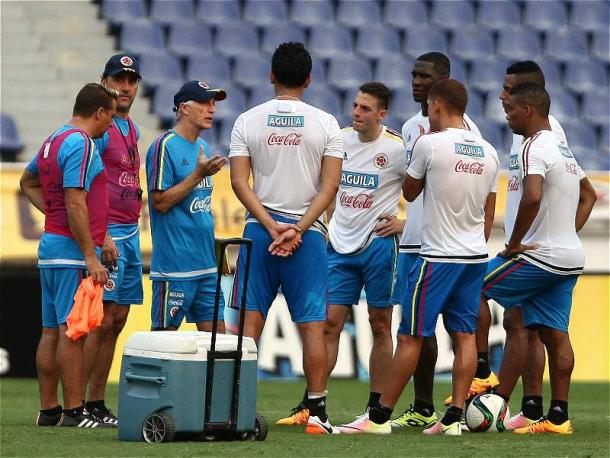 Colombia's final preparations. Source: futbolred