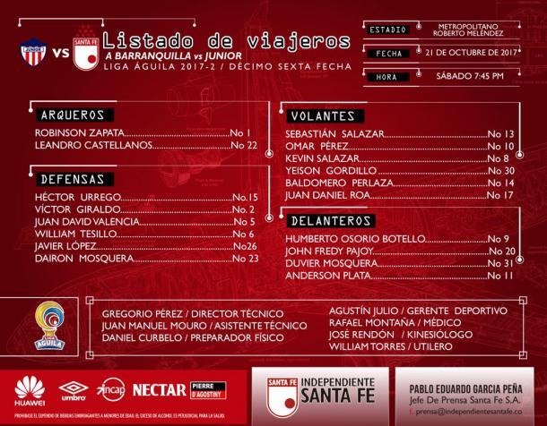 Santa Fe venció al Junior en el Metropolitano