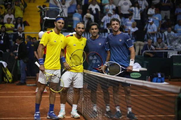 Cabal y Farah le entregaron el segundo punto a Colombia en la serie ante Argentina por la fase previa a las finales de la Copa Davis. Imagen: Sergio Briceño, Vavel Colombia.