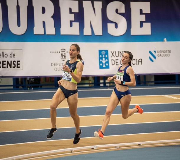 Lucía Pinacchio durante el Campeonato de España de Pista Cubierta. / Foto: Momento Deporte