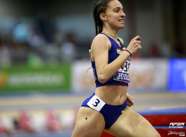 Lucía Pinacchio durante el Campeonato de España de Pista Cubierta. / Foto: Miguelez Team.