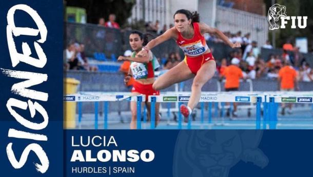 Anuncio del fichaje de Lucía Alonso por parte de la FIU.