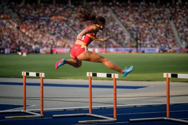 Sara Gallego durante el Campeonato de Europa en Berlín. / Foto: Sportmedia.