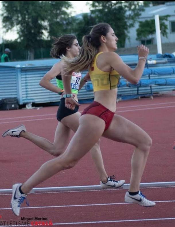 Maika Cuenca durante el Campeonato de España de Federaciones Autonómicas. / Foto: Atletisme Catalá.