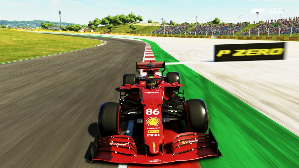 Fede Mileta con la Ferrari 86 estrenando colores nuevos en el casco: Foto Fede Mileta