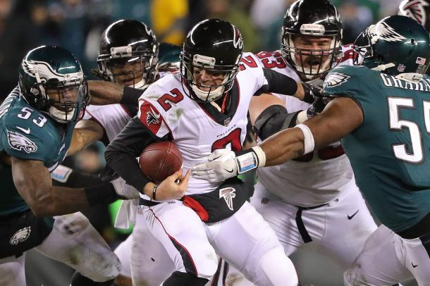The Falcons struggled offensively in the first half | Source: David Maialetti-The Philadelphia Inquirer