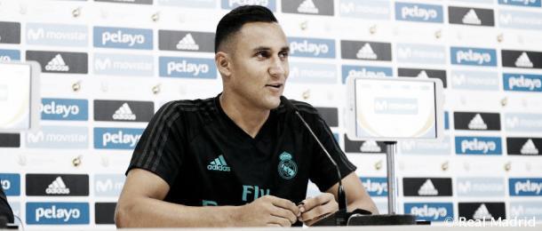 Keylor, en la conferencia de prensa previa al partido del domingo | Foto: Real Madrid C.F.