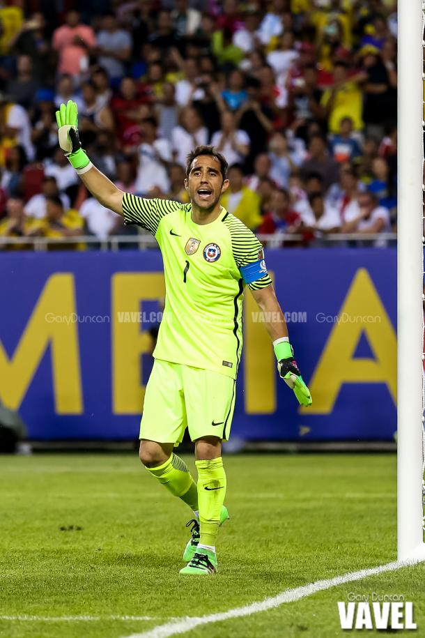 Chilean captain Claudio Bravo earned a clean sheet in the win. | Photo: Gary Duncan/VAVEL USA