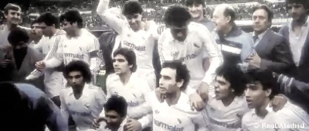 La eclosión de este grupo llegó a partir de 1985, con la conquista de cinco Ligas consecutivas | Foto: Real Madrid C.F.