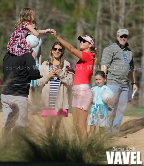 Paula Creamer delights young fans