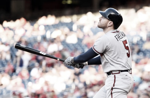 Freeman was hitting at a career-best pace before he was injured. If he returns to that form, the Braves could greatly improve their record. (Photo courtesy of: Mitchell Layton / Contributor via Getty Images)