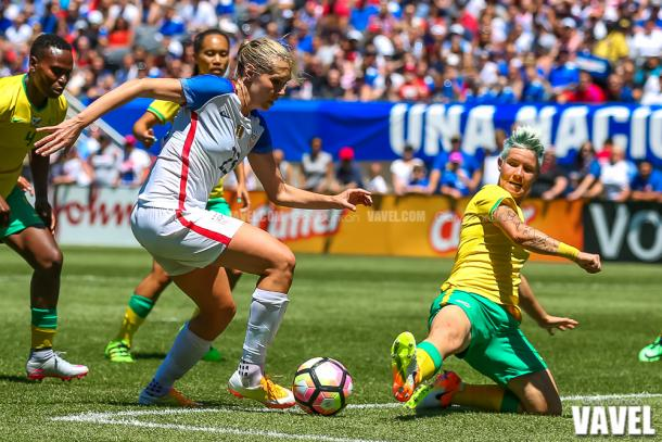 Janine van Wyk will look to lead by example tomorrow   Source: Gary Duncan-VAVEL