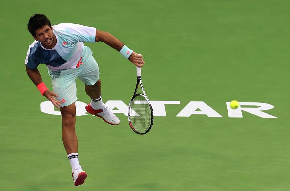 Verdasco had never made it past the second round here in Doha until this year. Photo: Karim Jaafar/Getty Images