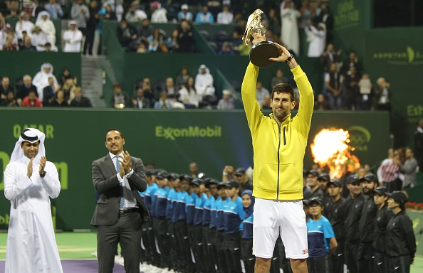 Djokovic poses with his trophy (Getty Images/Anadolu Agency)