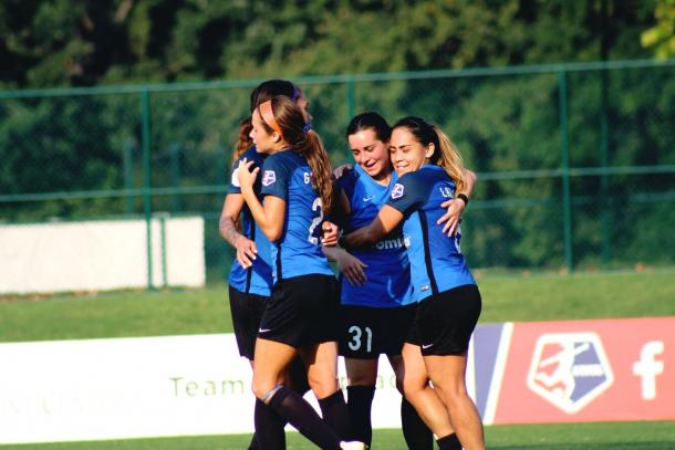 FC Kansas City celebrate their first against Sky Blue FC. Photo: Cindy Lara - VAVEL USA
