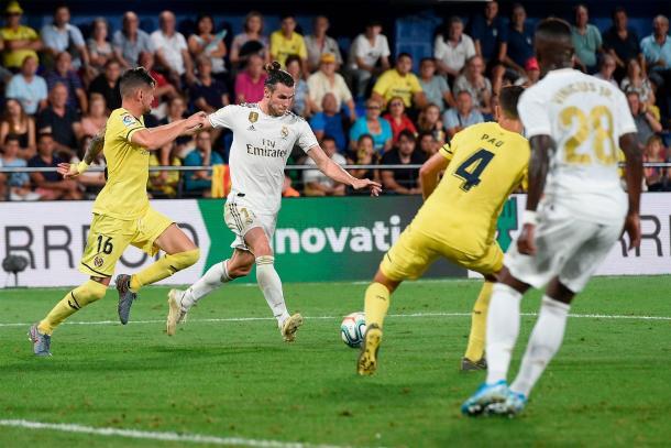 Gareth Bale dispara a portería | Fuente: www.realmadrid.com