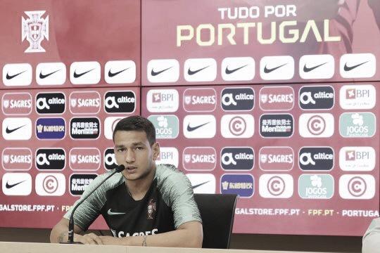 Rony Lopes en rueda de prensa / Foto: fpf.pt